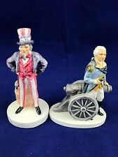 Lot of two Sebastian Miniatures Uncle Sam and George Washington sculptures