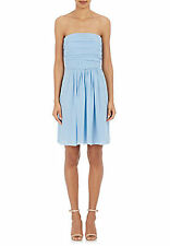 "BNWT Genuine ""Philosophy"" by Alberta Ferretti 100% Silk Chiffon Light Blue Dress"