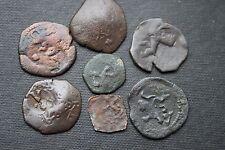 7 spainish colonial pièces 16/17th siècle epis spainish pirate pièces