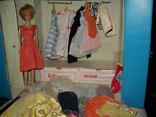 Beautiful Vintage Blonde Bubble Cut Barbie w/Trunk & Clothes & Accessories