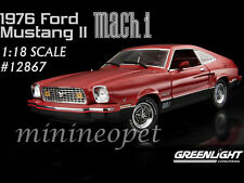 GREENLIGHT 12867 1976 76 FORD MUSTANG II MACH 1 1/18 DIECAST MODEL CAR RED