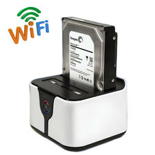 "All-in-1 USB 3.0 Wifi HDD Enclosure Dock Station 2.5""/3.5"" to SATA  Wi-Fi Router"