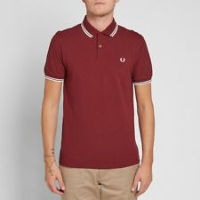 FRED PERRY TWIN PESA PORTA Polo Camicia-Taglia XL m3600