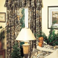 REALTREE MAX 4 CAMOUFLAGE WINDOW CURTAINS - DRAPES, CAMO CABIN