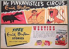 WEETIES AUSTRALIA CEREAL GIVEAWAY PROMO ENID BLYTON PINK-WHISTLE CIRCUS COMIC VF