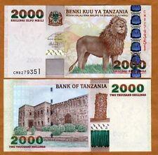 Tanzania, 2000 Shilingi, ND (2009), Pick 37 (37b), UNC   Lion