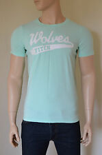 NEW Abercrombie & Fitch Hurricane Mountain Destroyed Tee T-Shirt Mint Green M
