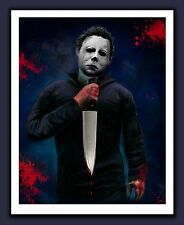 "LARGE Format Michael Myers ART Print Halloween Horror - ""THE NIGHT HE CAME HOME"""