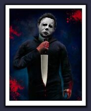 Halloween Michael Myers Horror Print - THE NIGHT HE CAME HOME - 1978 Movie Art