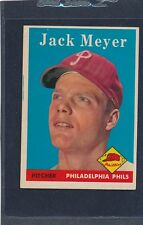1958 Topps #186 Jack Meyer Phillies EX/MT 58T186-82815-2