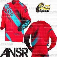 Answer 2017 Youth Kids Syncron Red Teal Race Jersey Shirt Large Motocross Quad