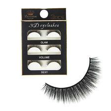 3 Paires 3D Faux Cils Volumineux Eyelash Cil Noir Yeux Seduisant Maquillage Mode