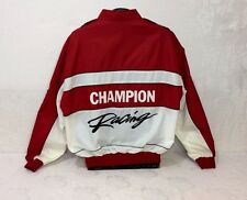 VTG Champion Spark Plugs Racing Lined Windbreaker Jacket BIG LOGO RARE! 2XL XXL