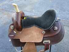 USED 15 BARREL RACING PLEASURE SHOW TOOLED LEATHER HORSE WESTERN SADDLE TACK