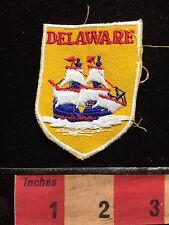 Vintage Delaware Collectible Souvenir Jacket Patch Emblem Ship Boat 67RR