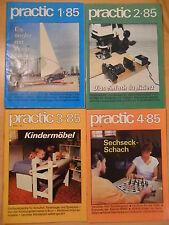 4x PRACTIC 1985 komplett ! DDR-Zeitschrift für Heimwerker Bastler Modelbau