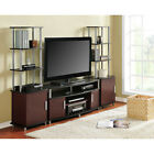Entertainment Center TV stand w 2 side towers 50 70 media console cabinet NEW