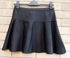 LIPSY BLACK QUILTED SPOTTY FISHTAIL PARTY FORMAL  SKATER A LINE RARE SKIRT 12 M