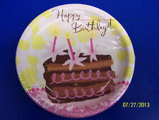 "Be Girly Chocolate Cake Pink Martini Cocktail Birthday Party 7"" Dessert Plates"