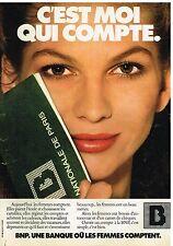 Publicité Advertising 1978 La banque BNP