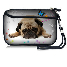 "Printed Cute Pug Bag Sleeve Case Pouch With Strap For 2.5"" HDD Hard Disk Drive"