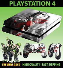 PS4 Skin Harley Quinn Gotham Girl Arkham Batman Sticker + Pad decals Vinyl LAID