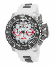Invicta 20473 Men's Sea Hunter Chronograph White Silicone and Dial