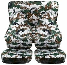 CC Jeep wrangler YJ - TJ or LJ Front + Rear car seat covers camouflage designs