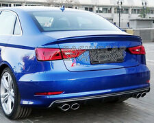 UNPAINTED S S3 Style ABS Trunk Lip Spoiler For AUDI A3 4DOOR SEDAN 2014UP A002F