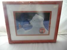 NEW! LIMITED EDITION FRAMED DIGITAL ANIMATION COCA COLA POLAR BEAR CEL