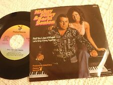 MICKEY GILLEY & BARBI BENTON ROLL YOU LIKE A WHEEL PLAYBOY  W/PICTURE SLEEVE
