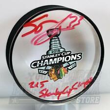 Scott Darling Chicago Blackhawks Signed Autograph 2015 Stanley Cup Acrylic Puck