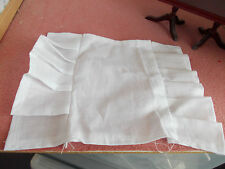 WHITE SINGLE VALANCE SHEET FOR A DOLLS HOUSE