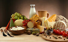 Framed Print - Still Life A Table of Cheese (Picture Poster Kitchen Dining Art)