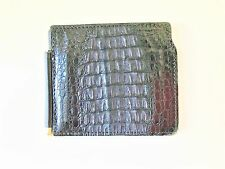 NEW genuine real ALLIGATOR crocodile tri-fold WALLET MEN belt boots black Italy