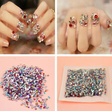2000pcs Nail Art Mixed Shape Rhinestones Acrylic Decoration Flat back Gems U87