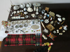 LARGE LOT OF VINTAGE DOLLHOUSE MINIATURES - 100 AMAZING PORCELAIN & RARE ITEMS!