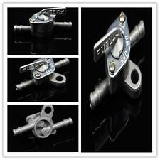 Fuel Hose Filter Inline Cut Shut On Off Valve Silver Switch Motorcycle Silver