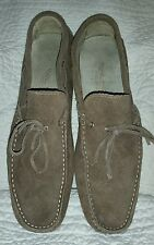 Verrei, Verrei driving loafers suede, taupe, sz 44 made in Italy