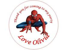 35 Personalised Spiderman Stickers 3 for 2 Thank you Party Seal Birthday Parties