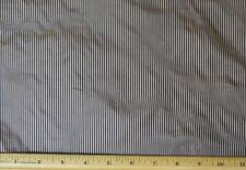 "Brown/Beige Tissue Taffeta Stripes 100% Silk Fabric 44"" Wide, By Yard (SD-696B)"