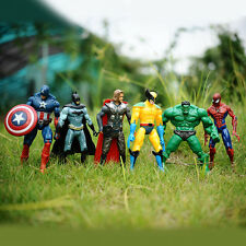 6 set Marvel DC Movie Avengers super hero Action Figures HULK IRON MAN SPIDERMAN