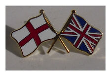 StGeorge and Union Jack flags badge crossed flag enamel doube pin badge