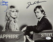 JOANNA LUMLEY+DAVID MCCALLUM HAND SIGNED 8x10 PHOTO     SAPPHIRE AND STEEL   JSA