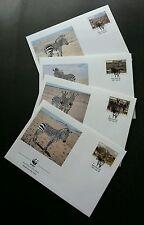 Namibia WWF Zebra 1991 Wildlife Animal Fauna (stamp FDC)