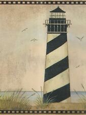 Lighthouse Scenes  - 45 feet - USA SHIPPING INCLUDED - Wallpaper Border A035
