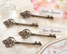52 Victorian Antique Gold Key to my Heart Bridal Wedding Favor Place Card Holder