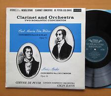 SOL 60035 Weber Spohr Clarinet Concertos De Peyer Colin Davis 1961 NM/EX Stereo