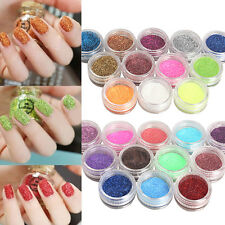 12 Pz/1 Set Nuovo Glitter Polvere Acrilica Nail Polish Kit Accessori Decorazione