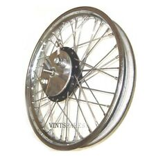 "19"" HALF WIDTH FRONT WHEEL SPOKES & BRAKE COMPLETE ASSEMBLY BSA NORTON ENFIELD"